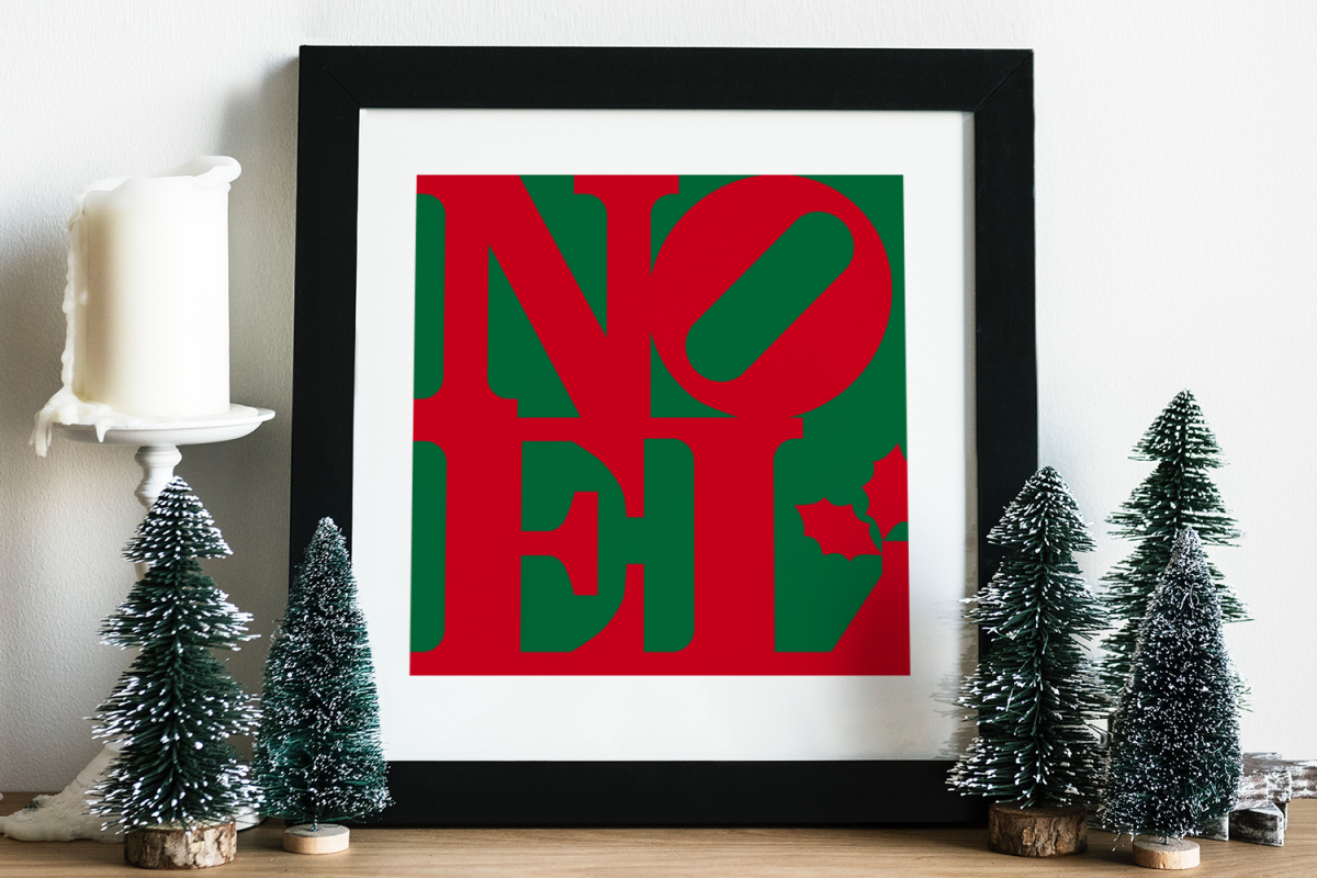 NOEL Square Christmas SVG File example image 1