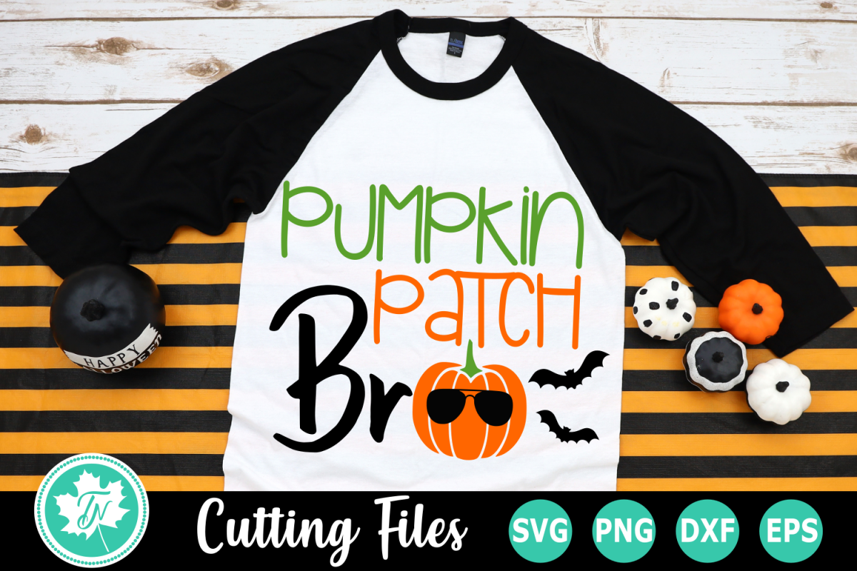 Pumpkin Patch Bro - A Fall SVG Cut File example image 1