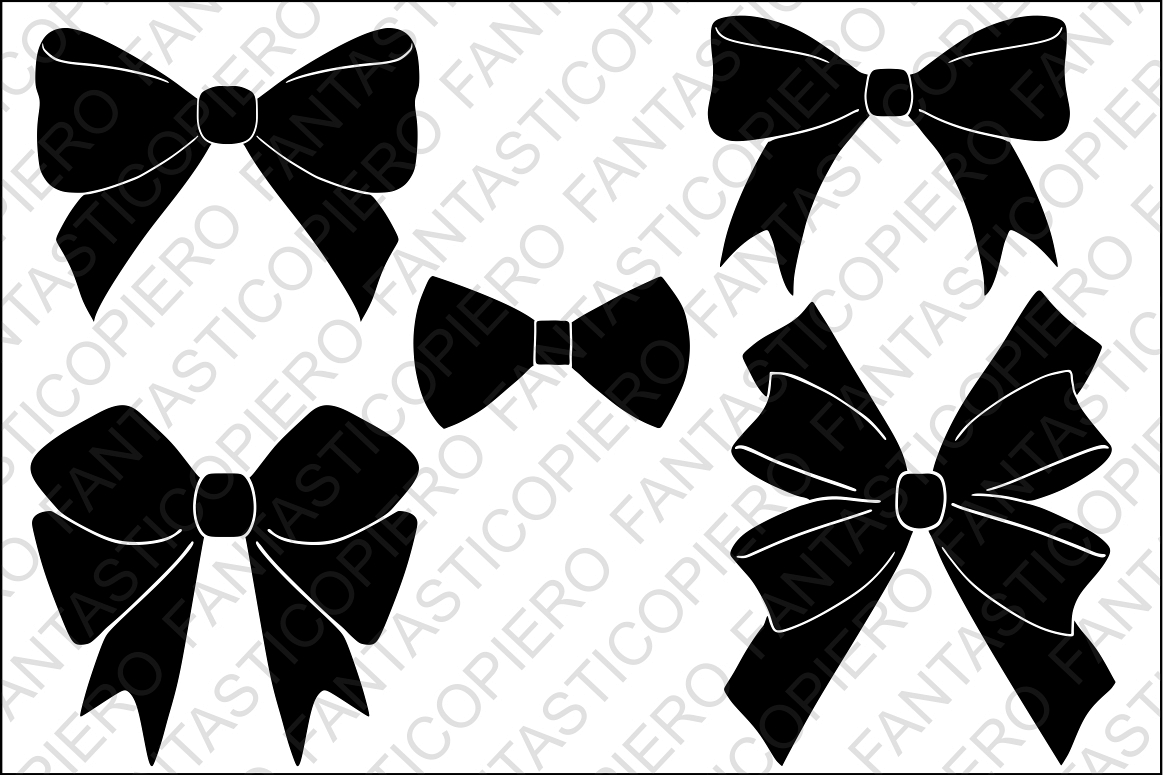 Bow tie silhouette. Bows svg files for