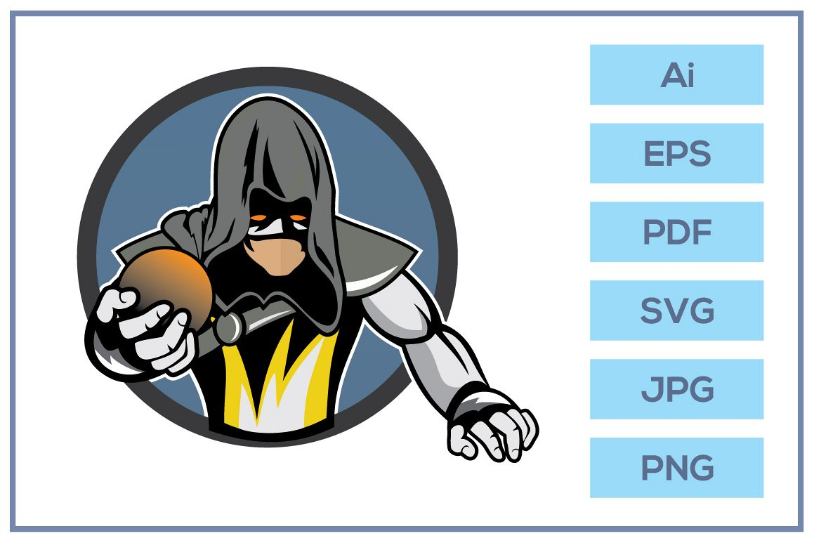 Vector of Game team warrior cartoon character example image 1