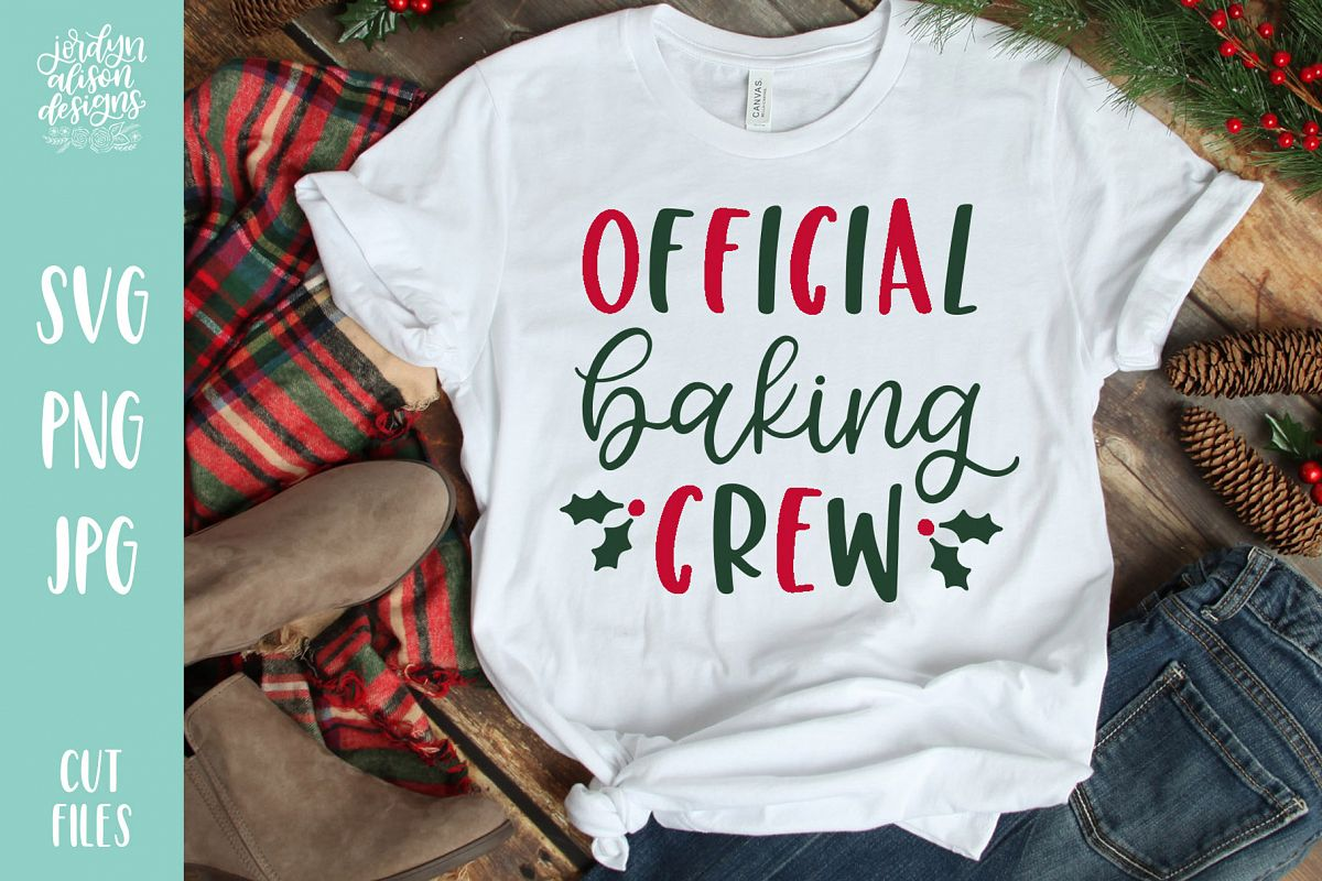 Official Baking Crew, Christmas Holiday SVG Cut File example image 1