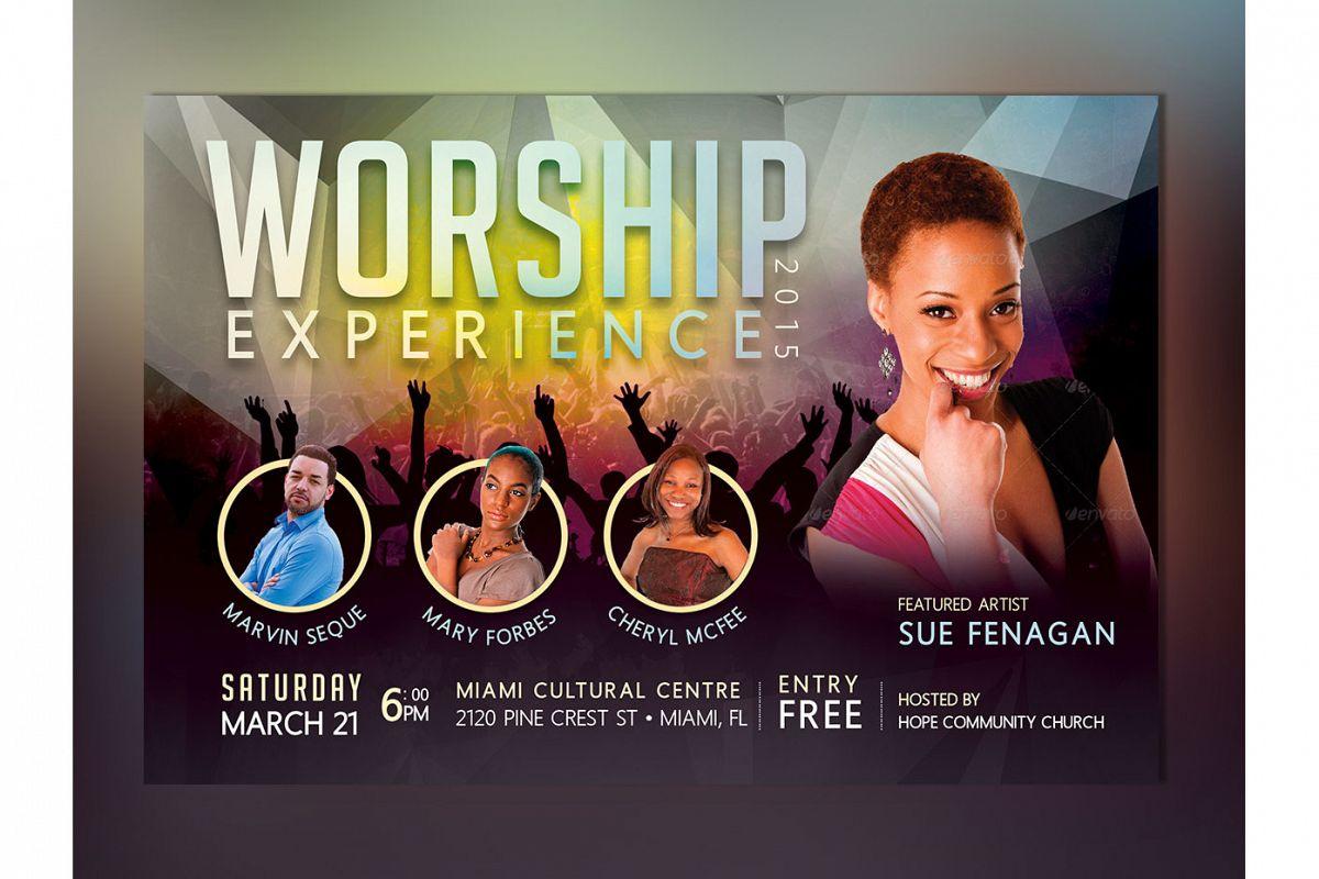 Church Concert Flyer Photoshop Template Design Bundles