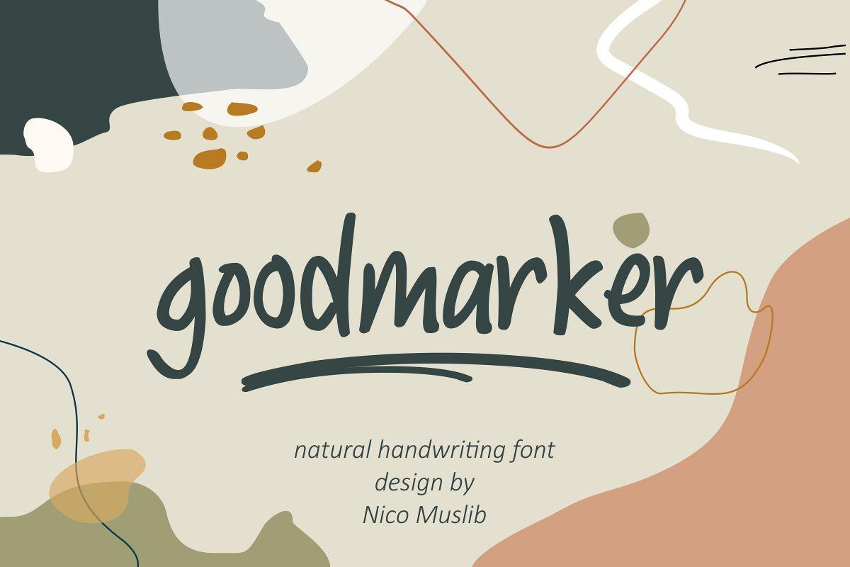 Goodmarker Handwritten Font example image 1