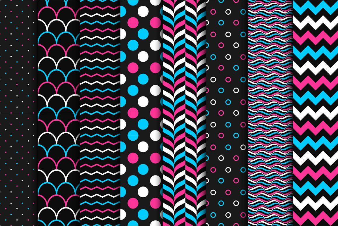 Set of color seamless patterns. example image 1