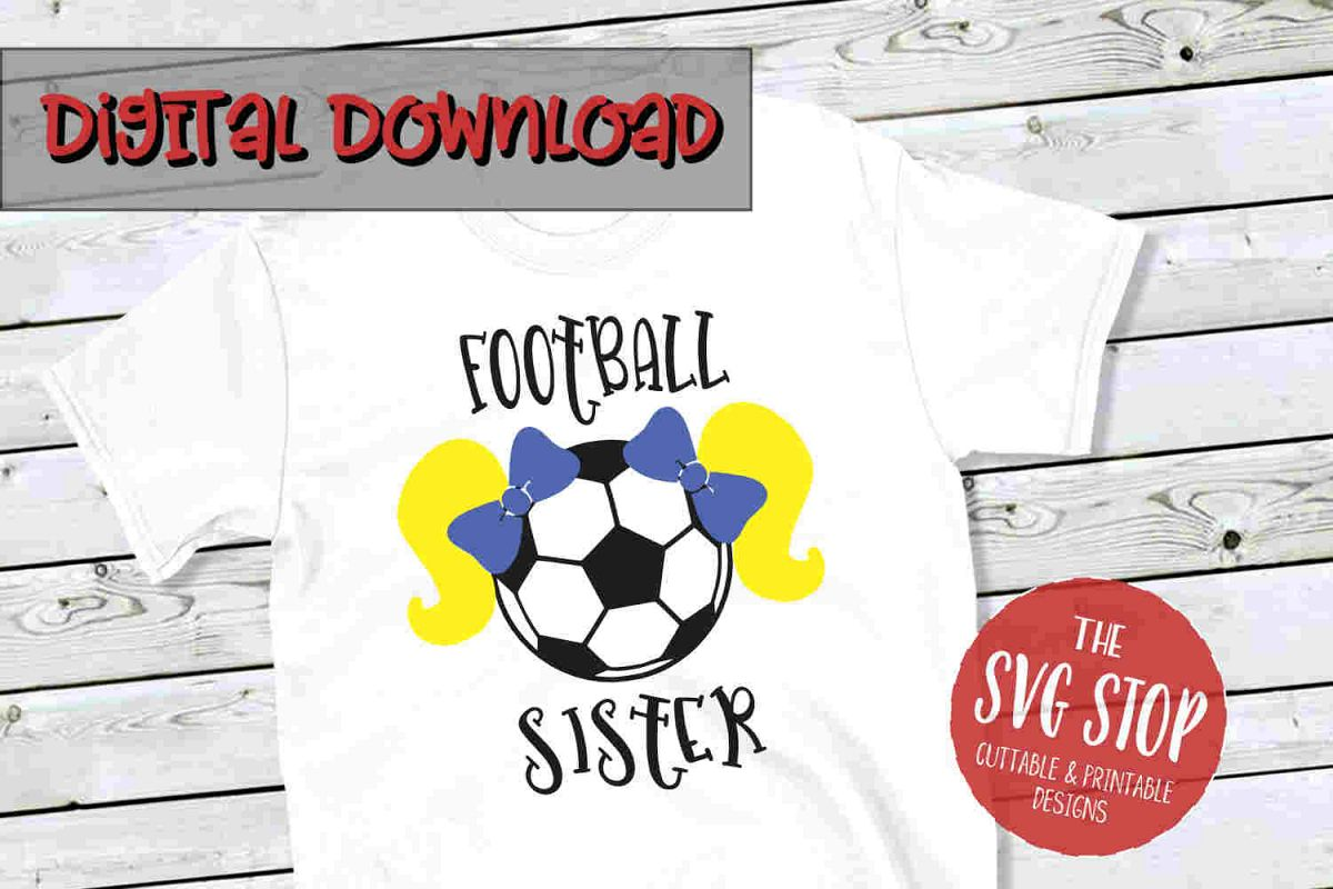 Football-Soccer Sister 4-SVG, PNG, DXF example image 1