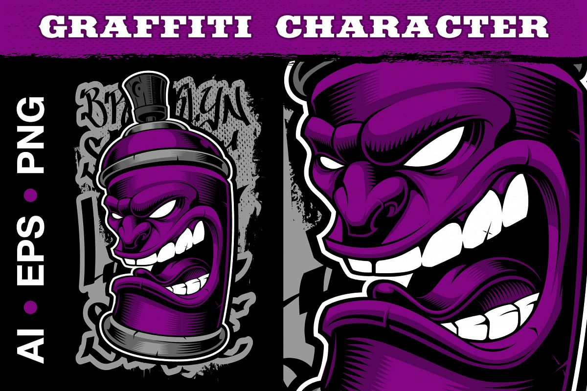 Graffiti Spray Can example image 1