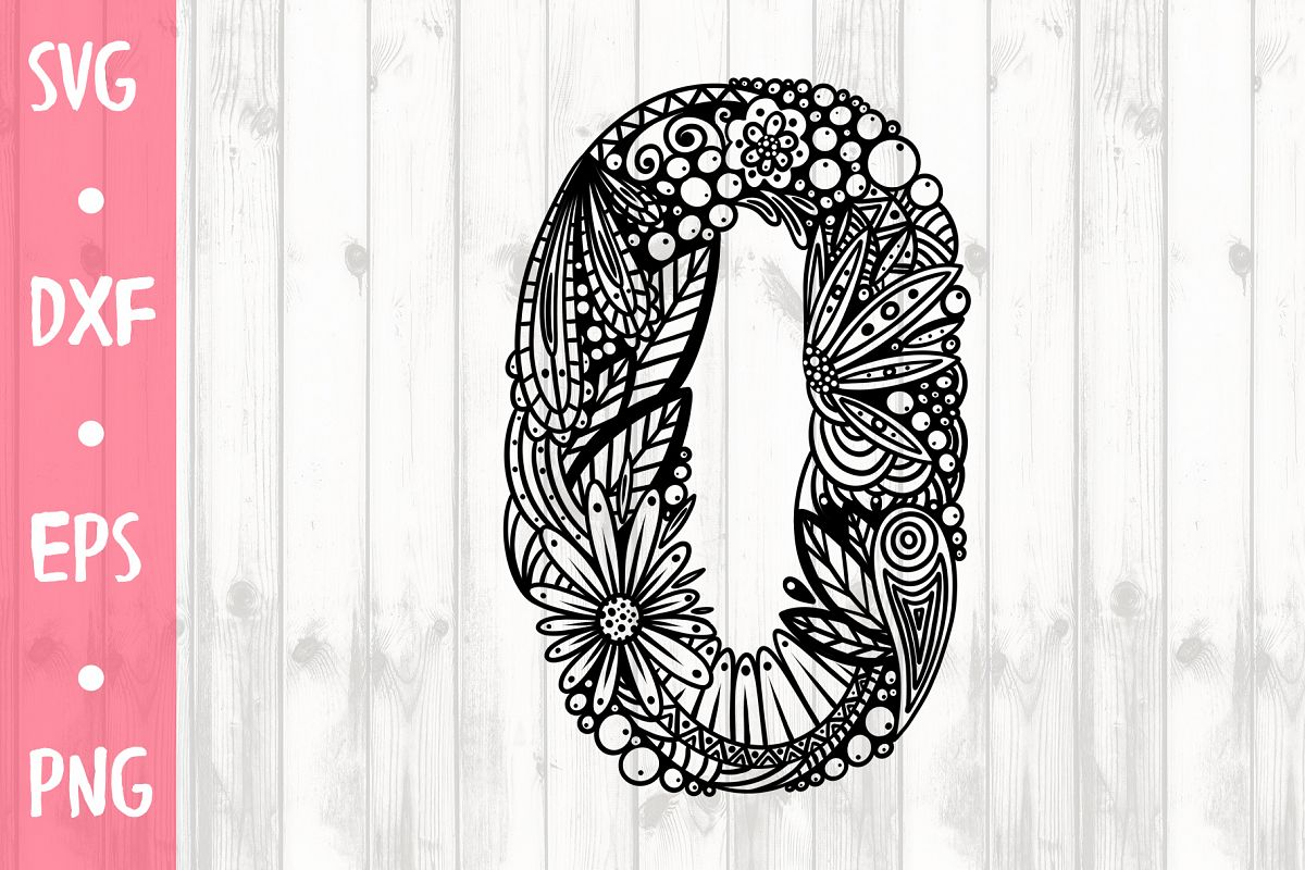 LETTER O SVG CUT FILE example image 1