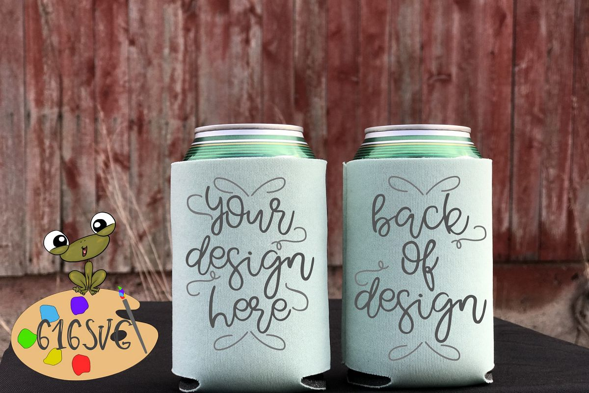 Mint Can Cooler Mockup example image 1