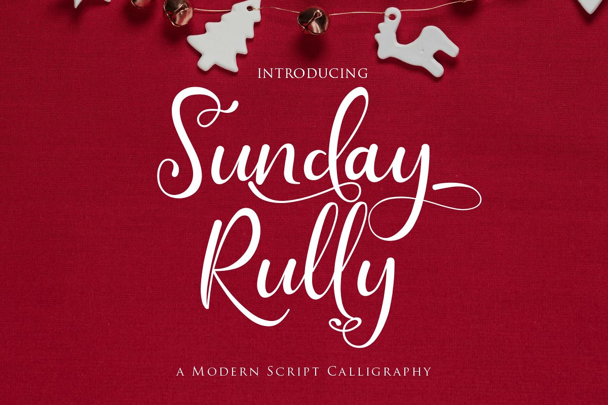 Sunday Rully | A Modern Script Calligraphy example image 1