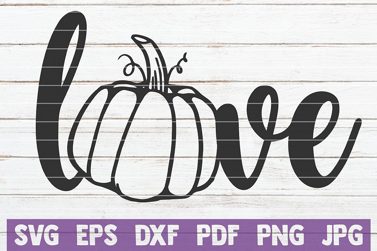 Pumpkin Love SVG Cut File example image 1