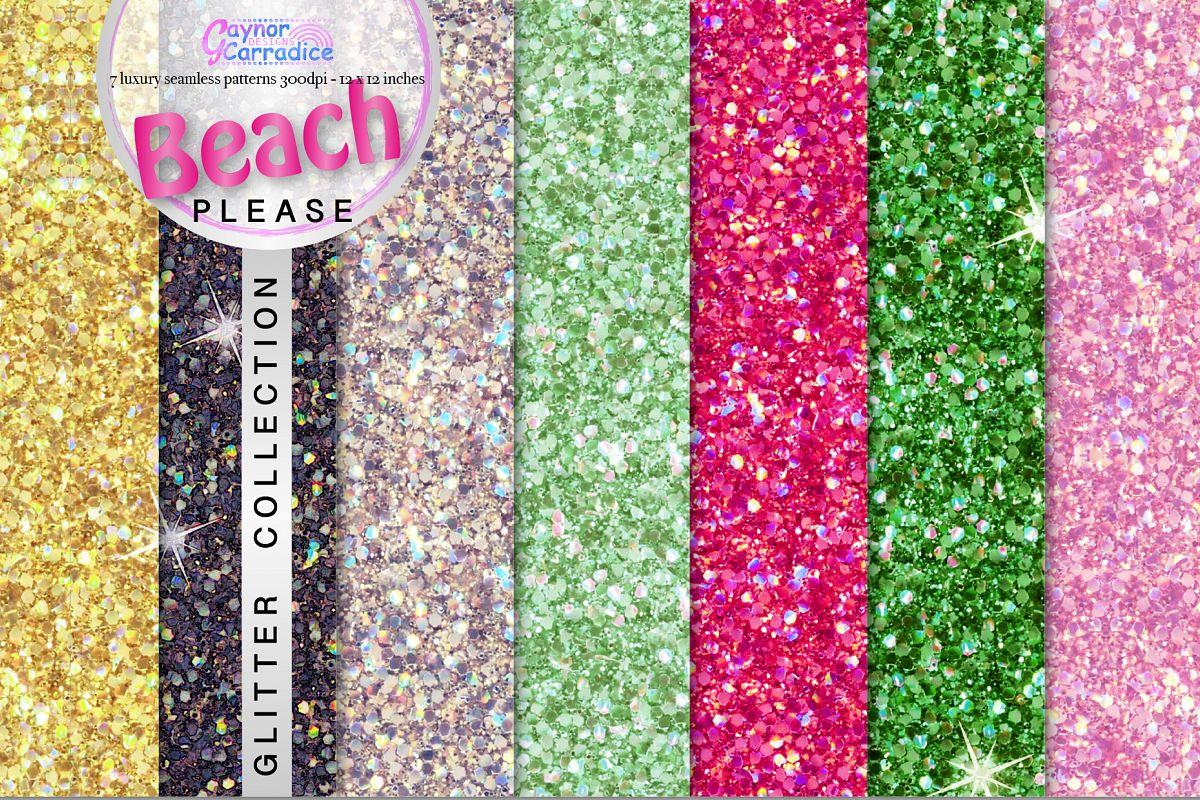 Beach Please glitter collection example image 1