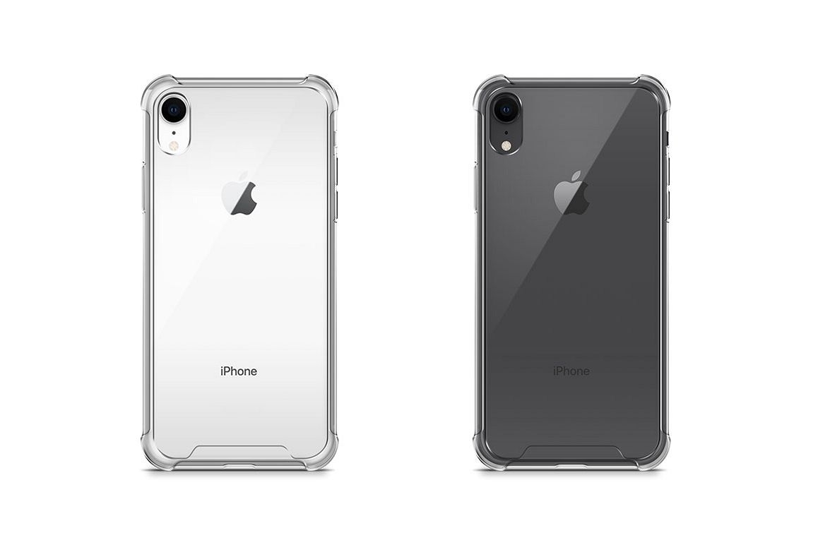 Apple iPhone XR Anti-Scratch Case Mock-up Back V iew example image 1