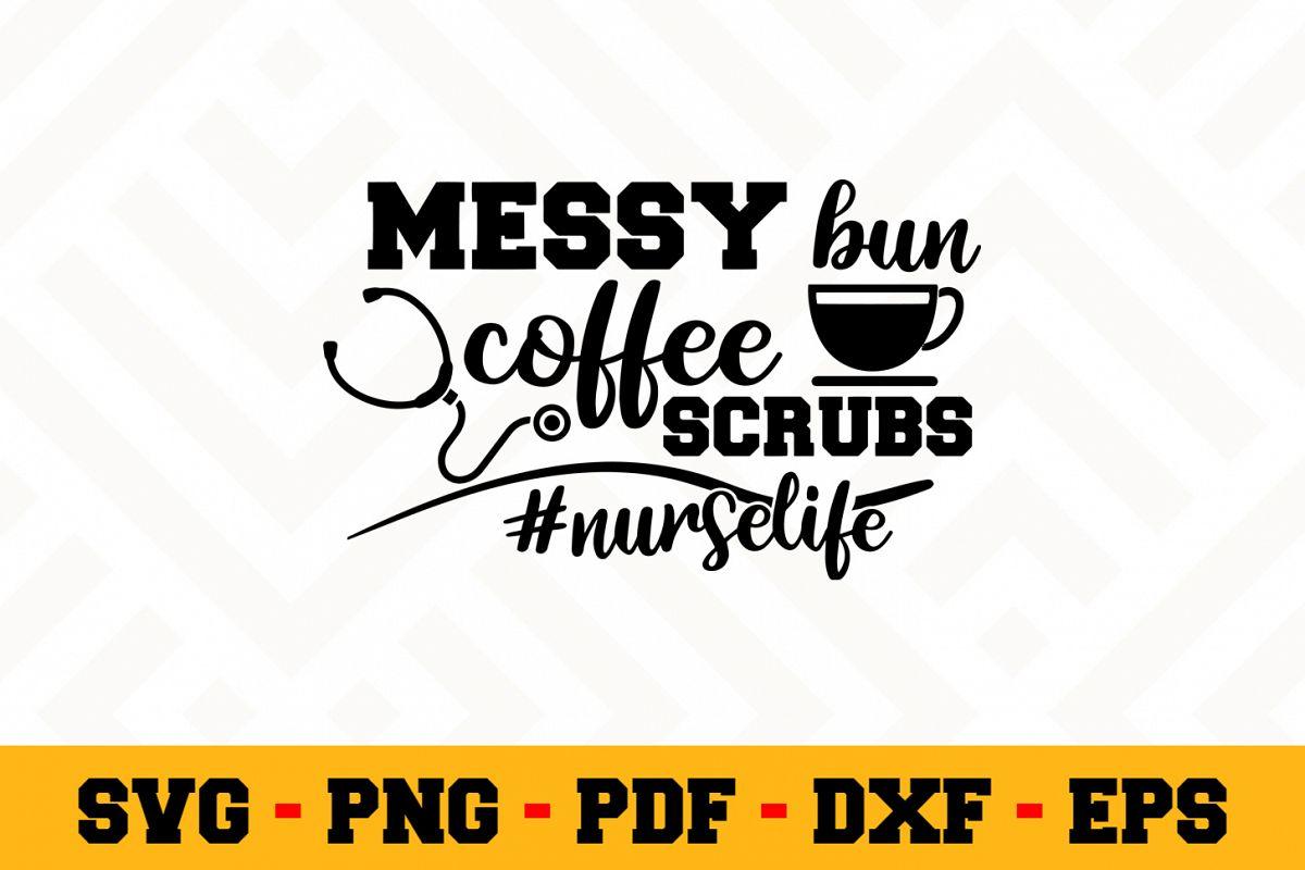 Nurse SVG Design n600 | Nurse SVG Cut File example image 1