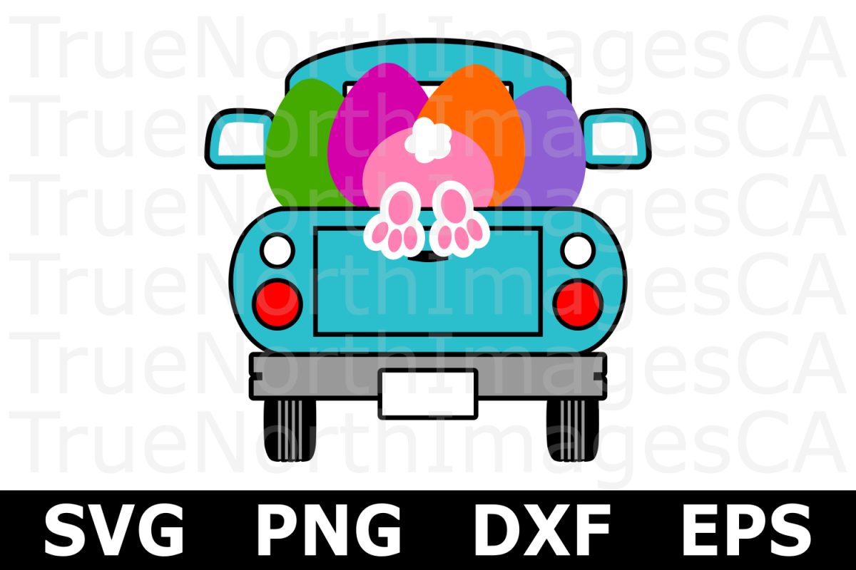 Easter Truck - An Easter SVG Cut File example image 1