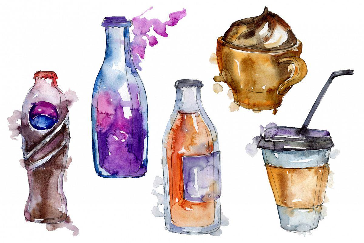 Drinks Juliet Watercolor png example image 1