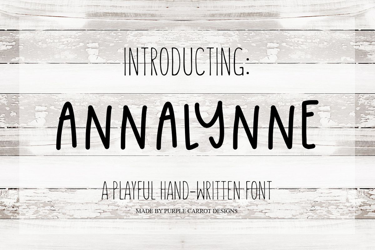 Annalynne Font example image 1