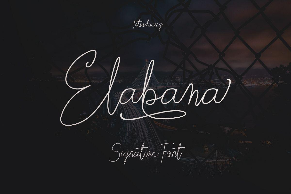 Elabama - Signature Font example image 1
