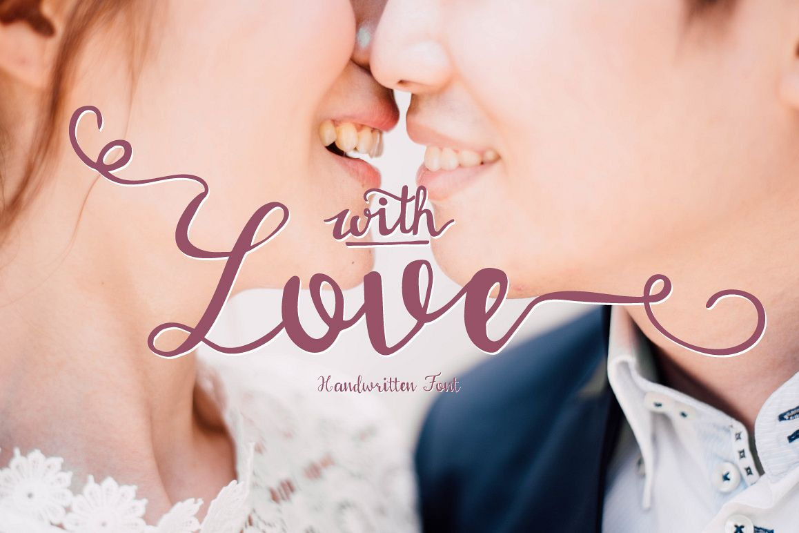 With love Handwritten font example image 1