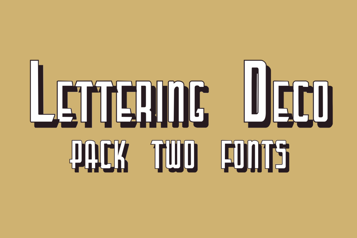 Lettering Deco (pack two fonts) example image 1