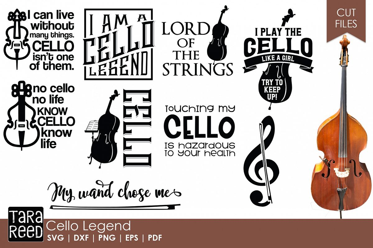 Cello Legend - Cello SVG & Cut Files for Crafters example image 1