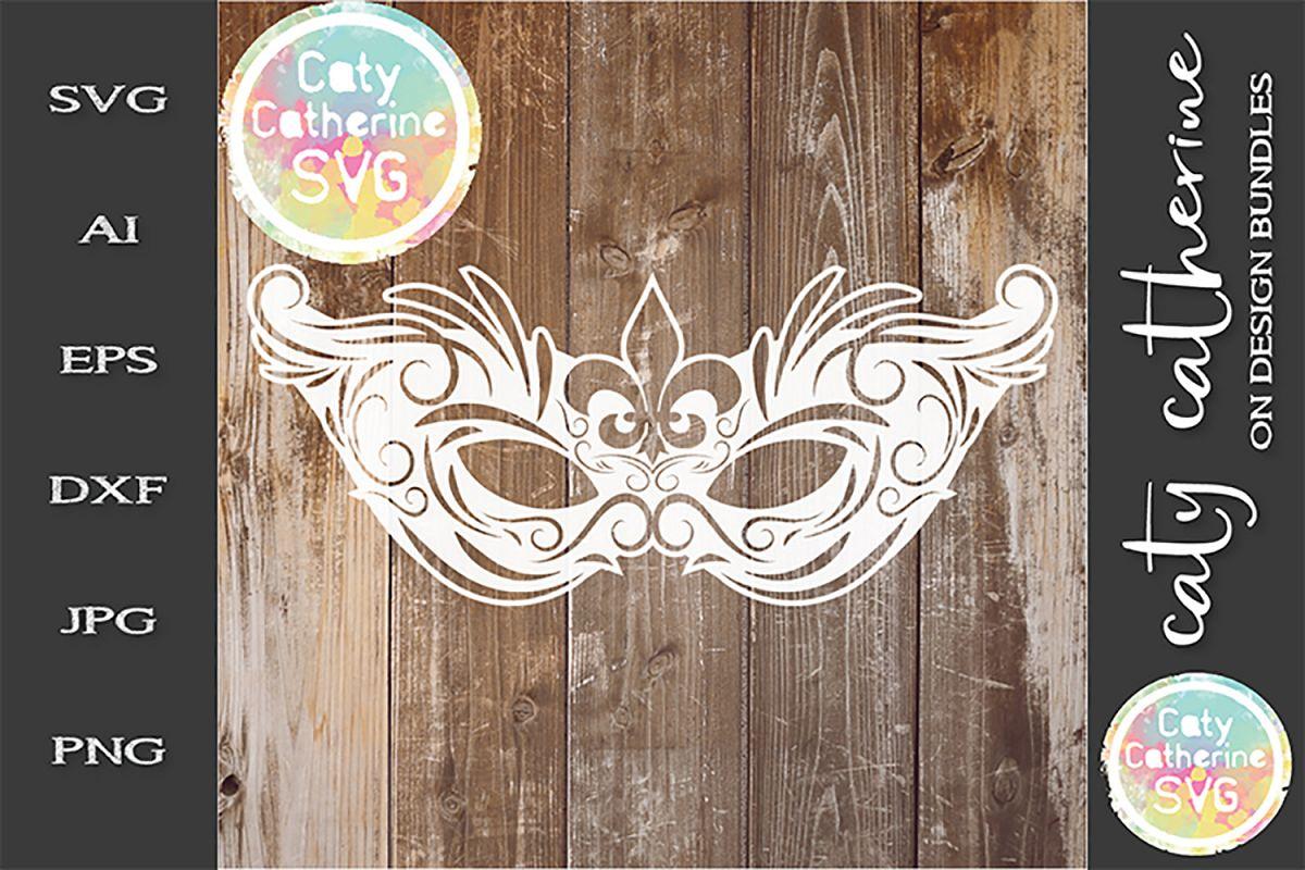 Mardi Gra Mask SVG Masquerade Mask SVG Cut File example image 1