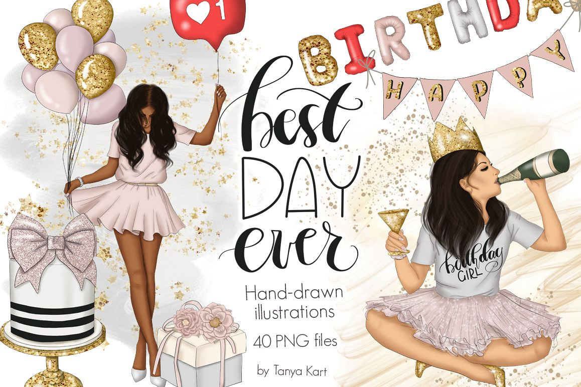 Best Day Ever Clipart Graphic Design example image 1