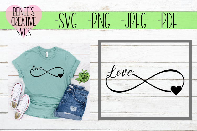 Infinity Love | Love | SVG Cutting File example image 1
