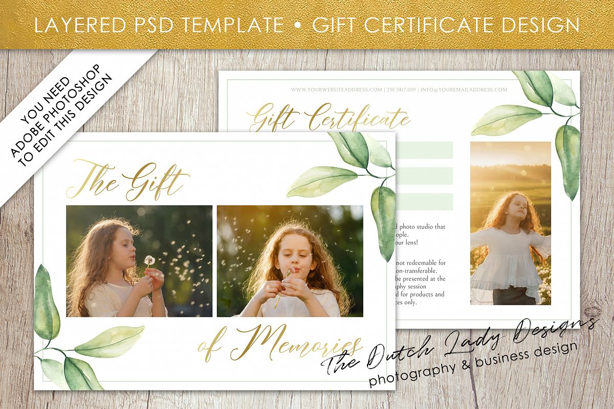 Photo Gift Card Template for Adobe Photoshop - #53 example image 1