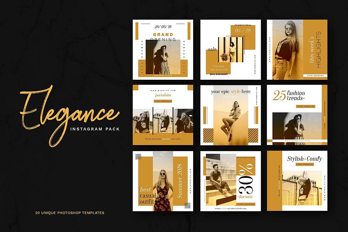 Elegance Instagram Pack example image 1