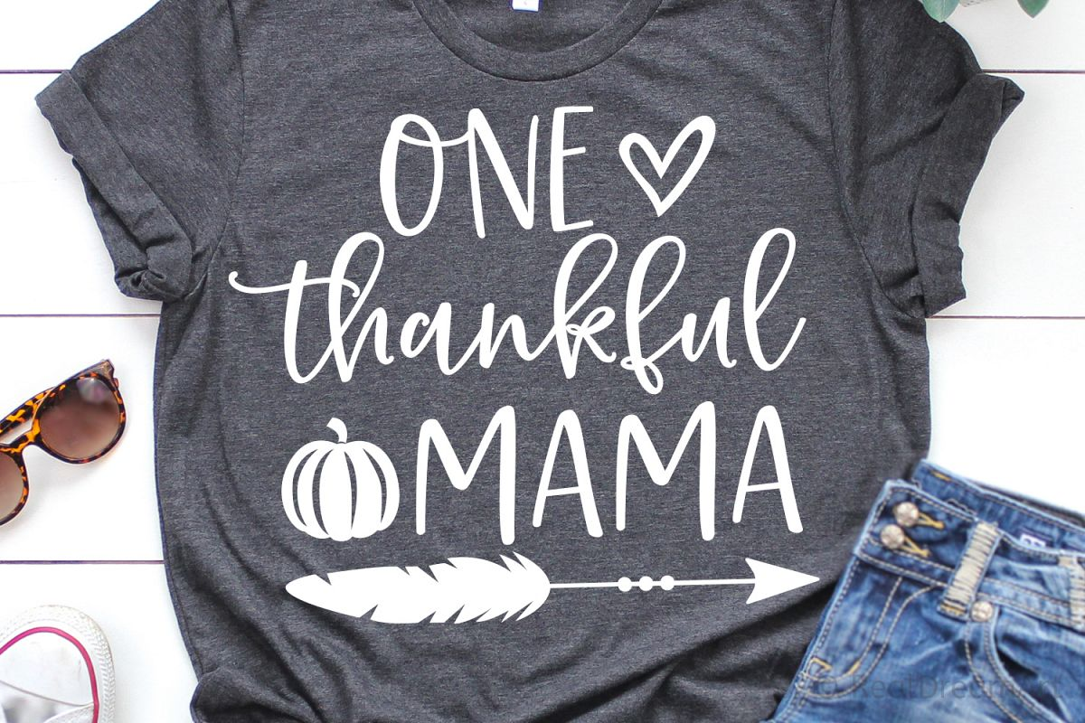 One Thankful Mama SVG, DXF, PNG, EPS example image 1