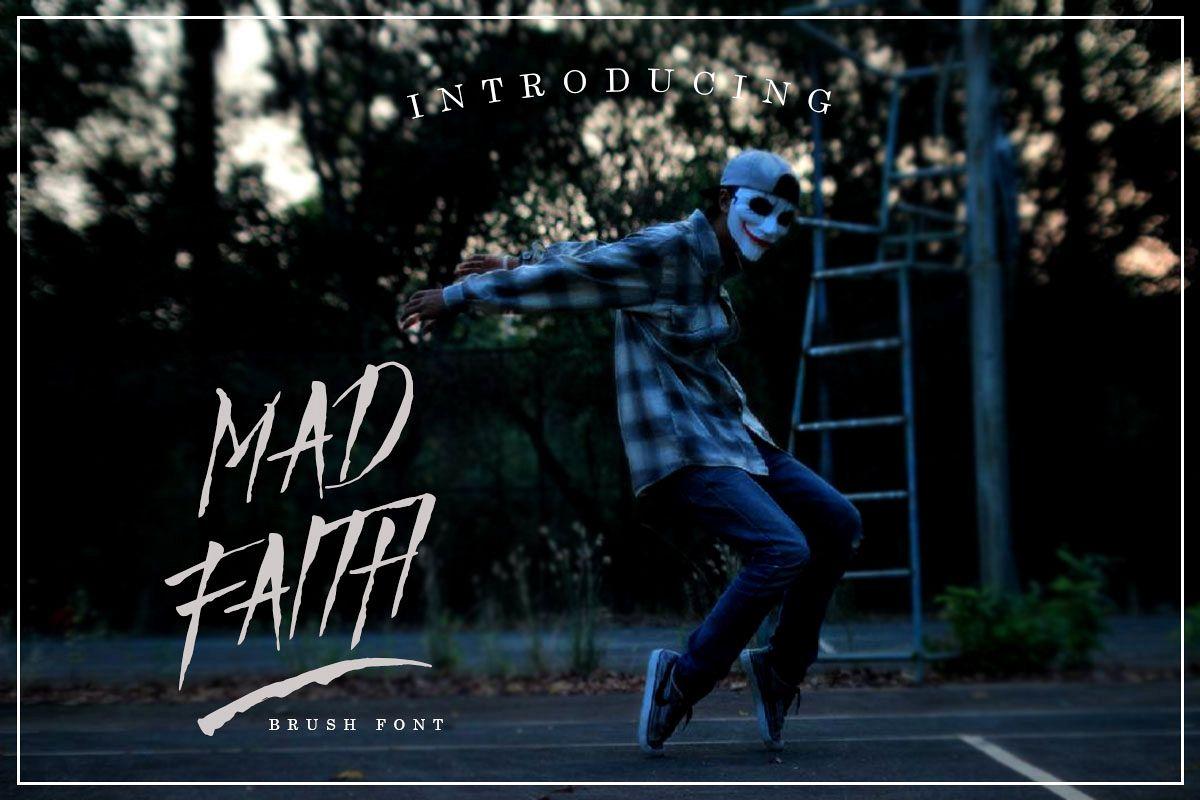Mad Faith ~ Brush Font example image 1
