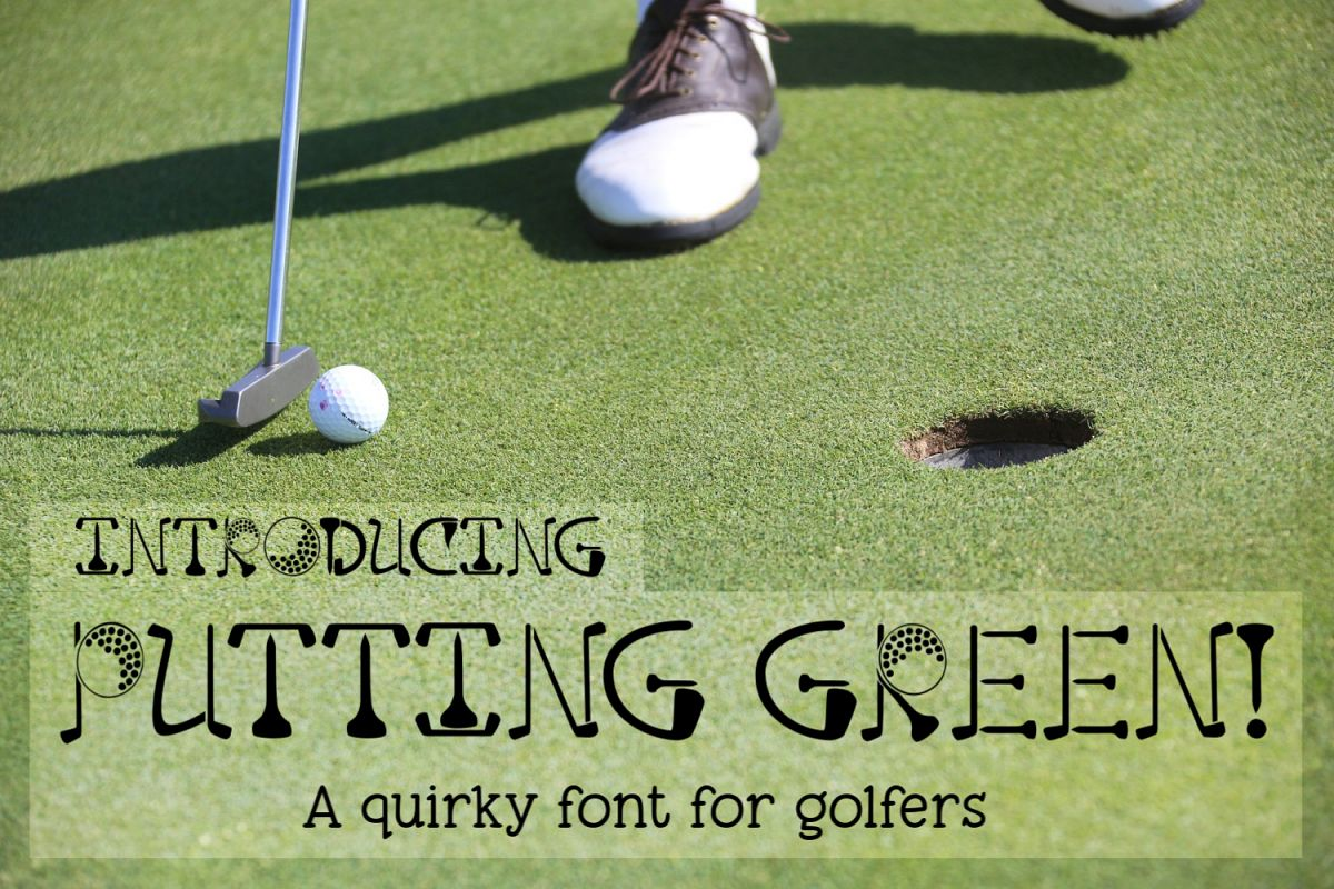Putting Green - A Quirky Font for Golfers example image 1