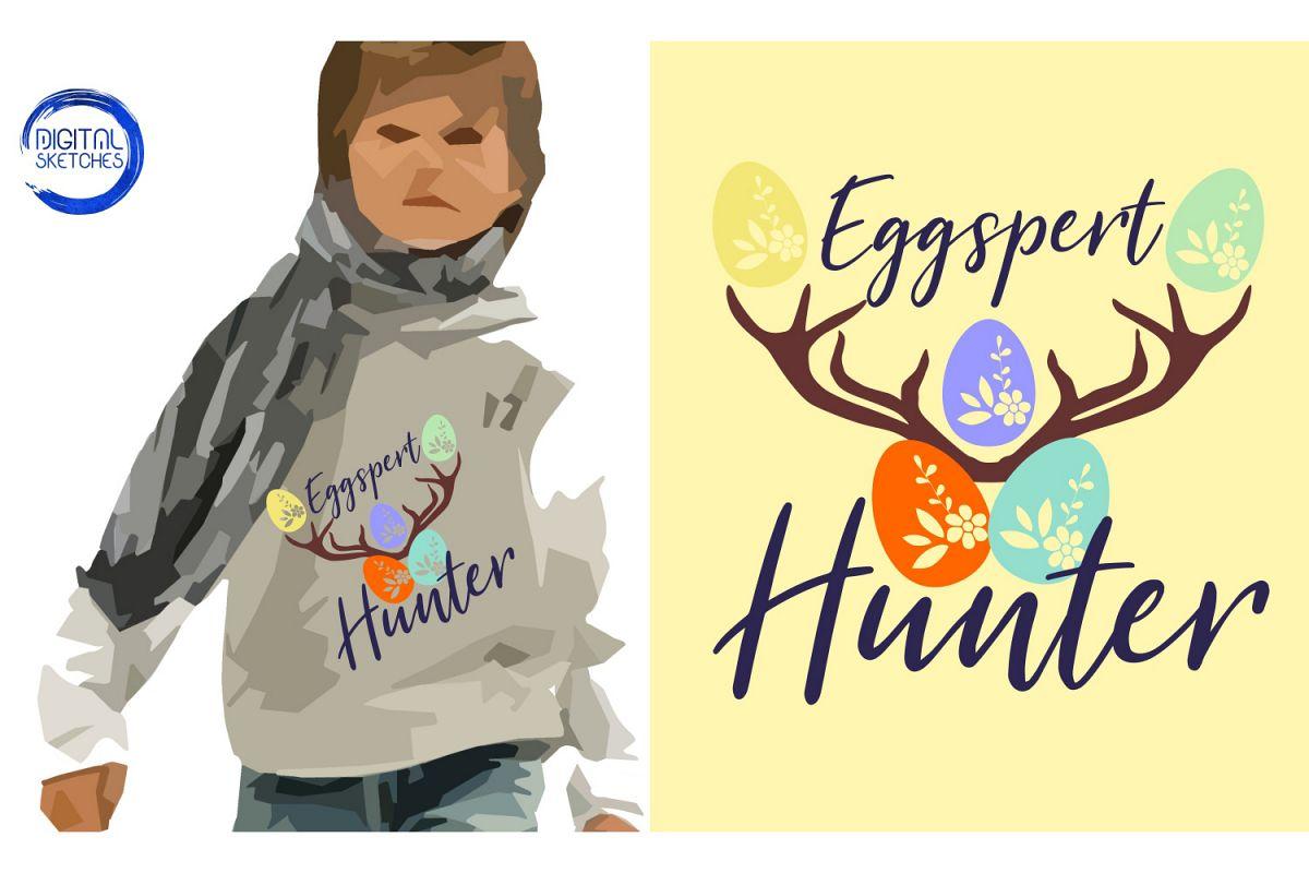 Eggspert Hunter Easter Cut File Vector Graphics Illustration example image 1