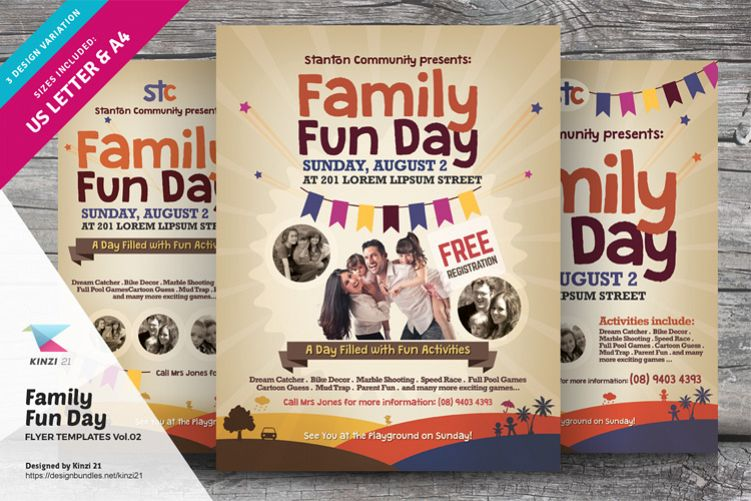 Family Fun Day Flyer Templates Vol 02 Example Image 1