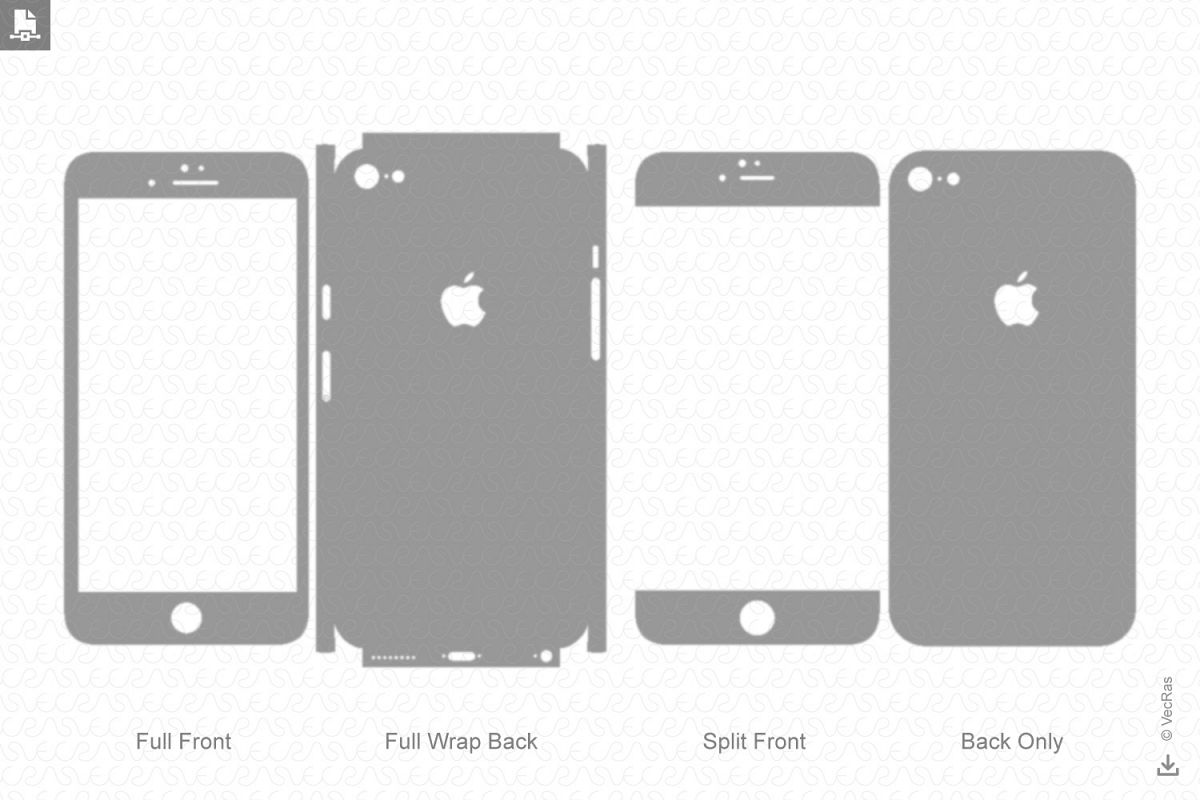 Apple iPhone 6S Decal Cut file Vector Template 2015 example image 1