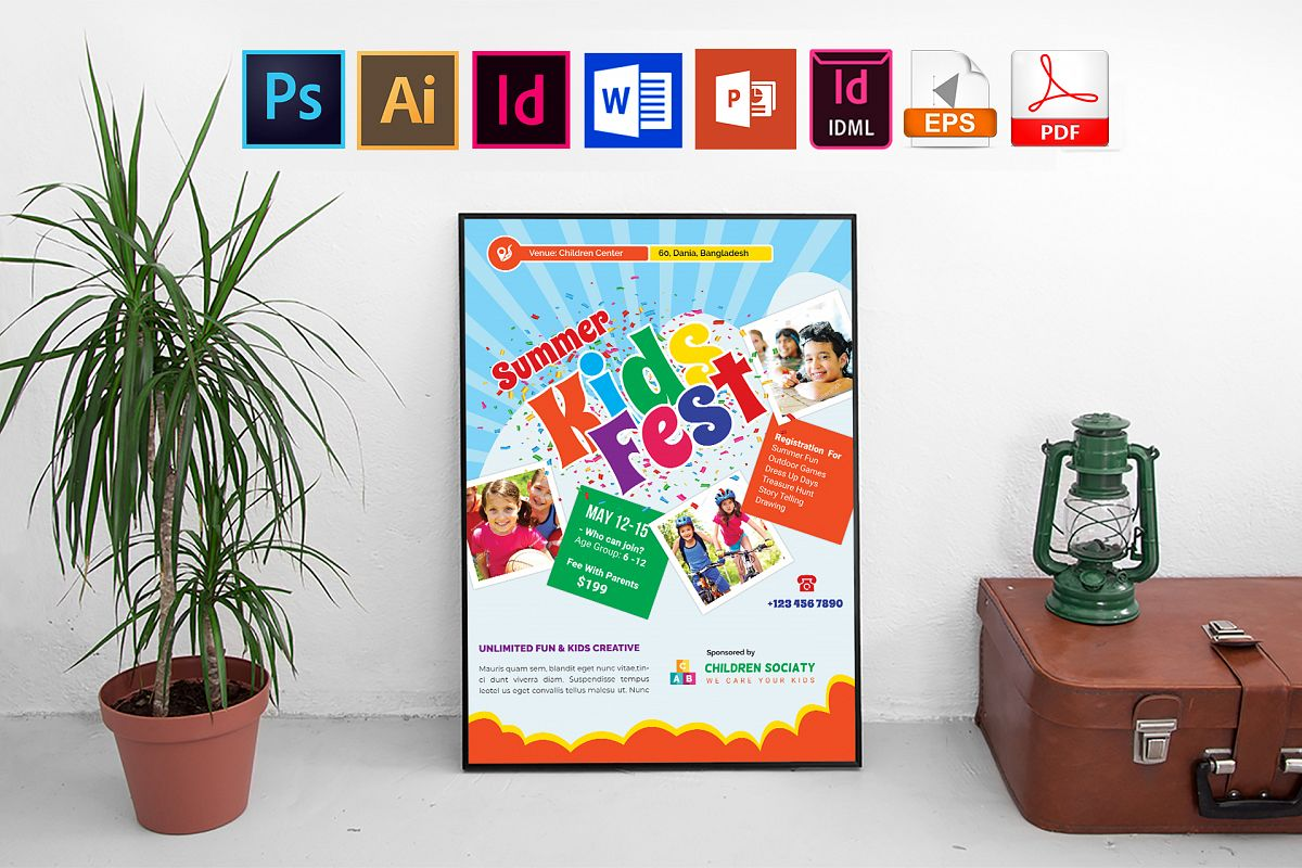 Poster | Kids Summer Camp Vol-01 example image 1