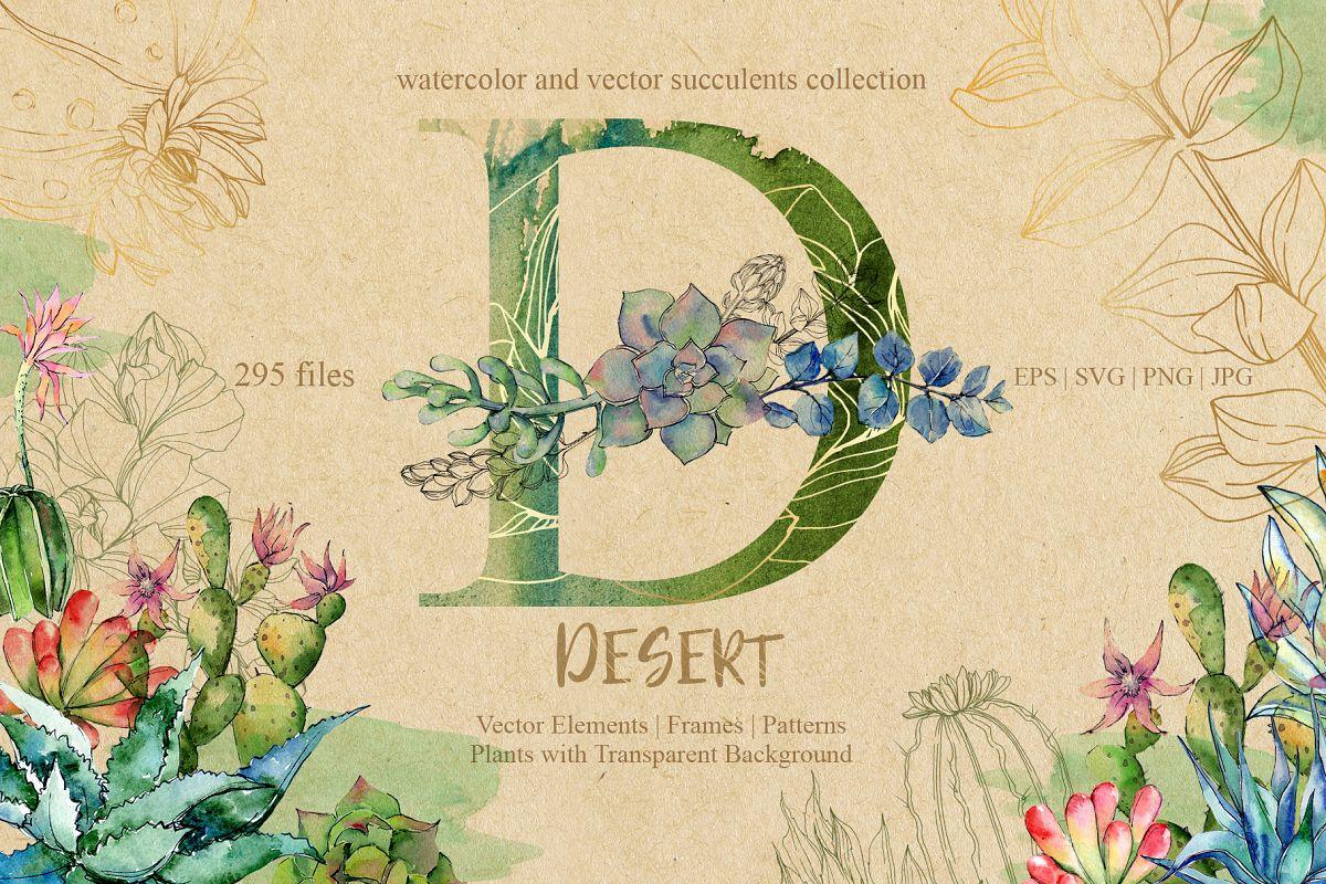 D-desert EPS, SVG, PNG, JPG set example image 1