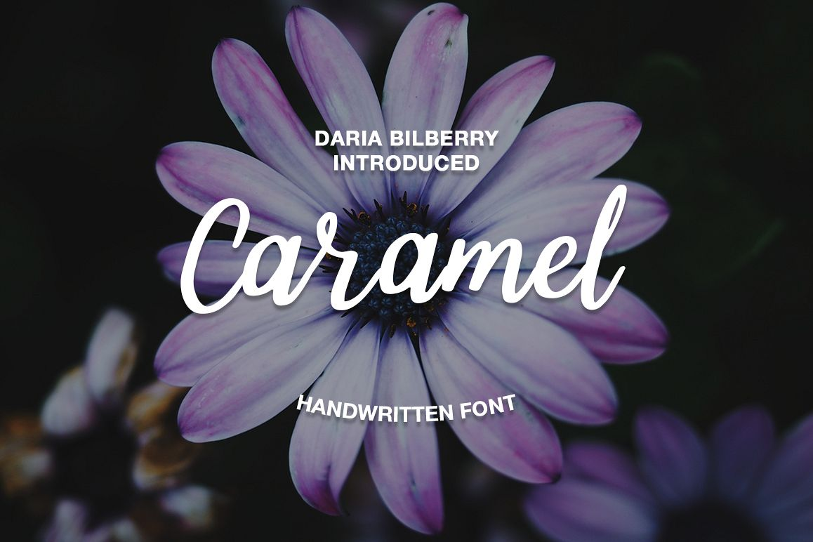 Caramel handwritten font example image 1