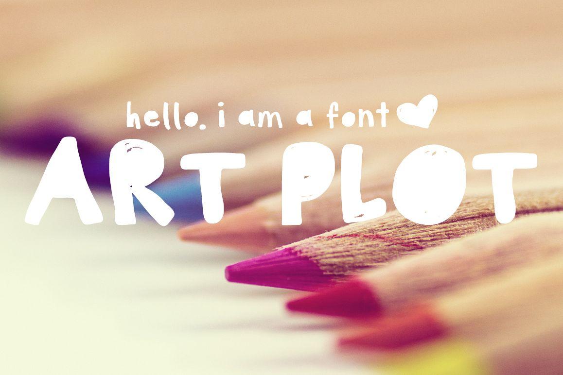 Art Plot Bold Hand Drawn Font example image 1