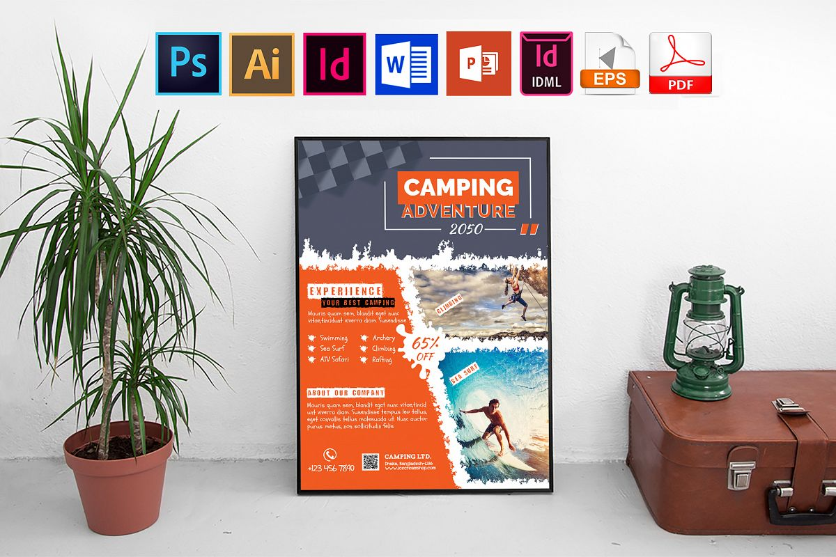 Poster | Camping Adventure Vol-01 example image 1