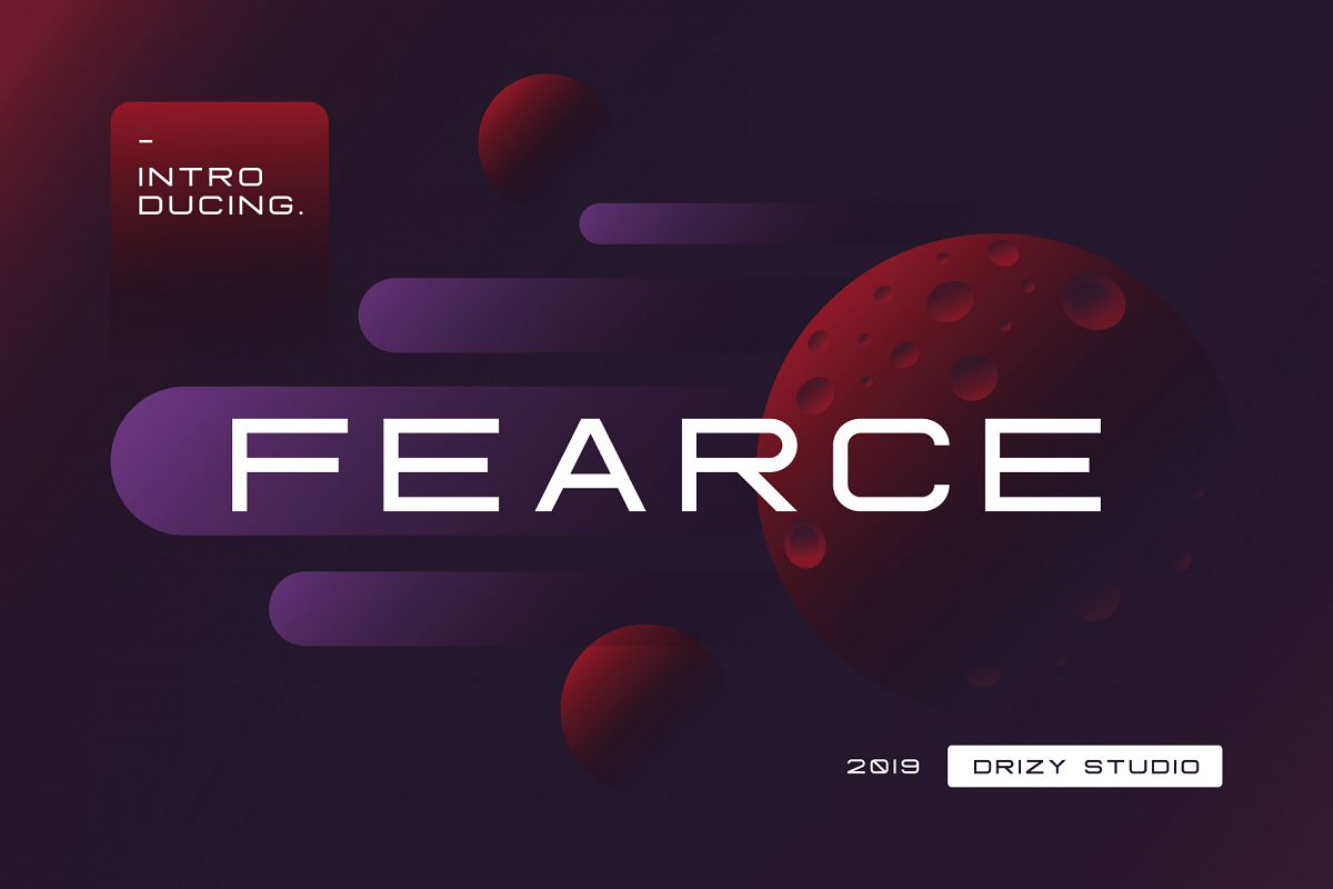 Fearce Typeface & Space Flyer example image 1