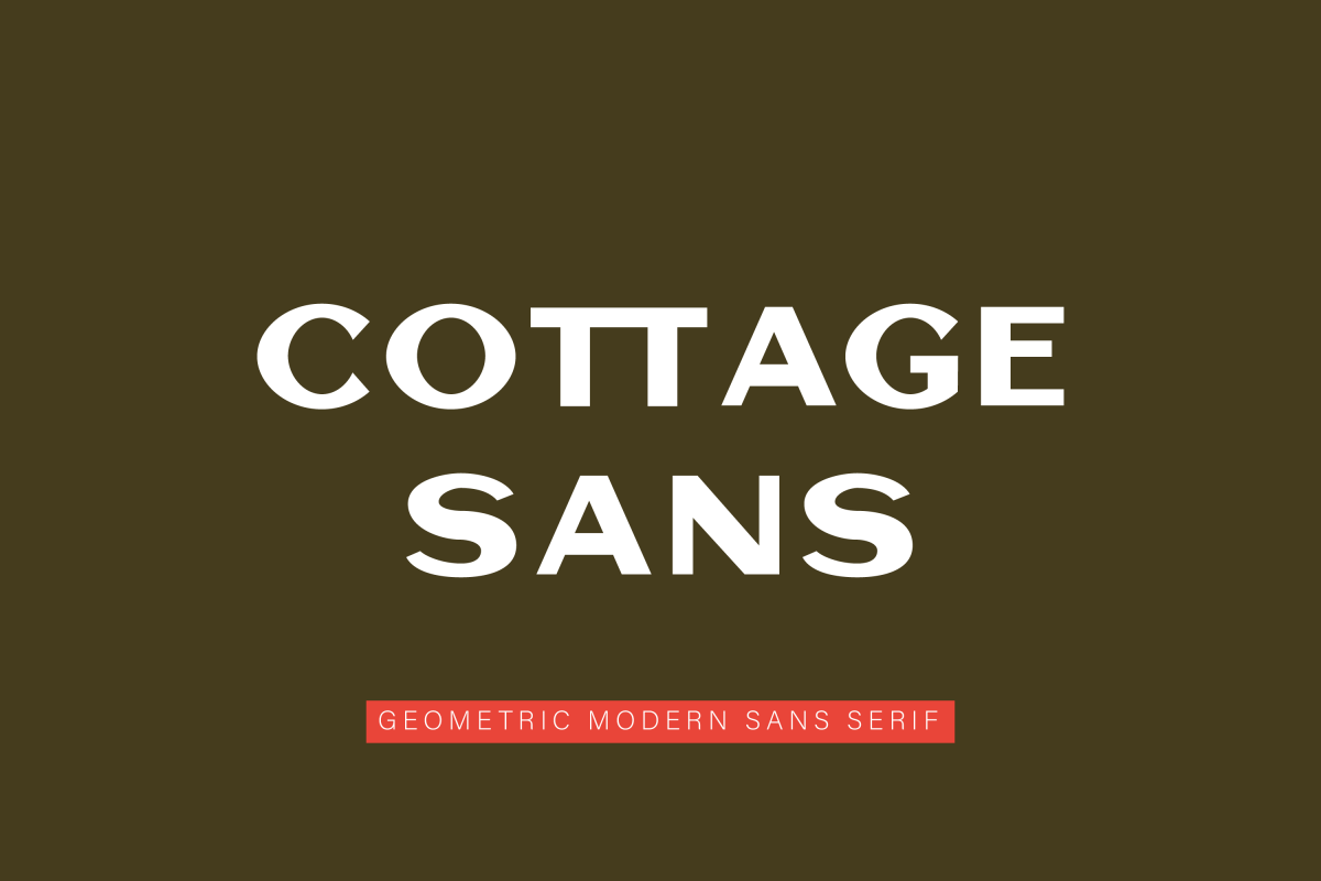 Cottage Sans - 1950's Style example image 1