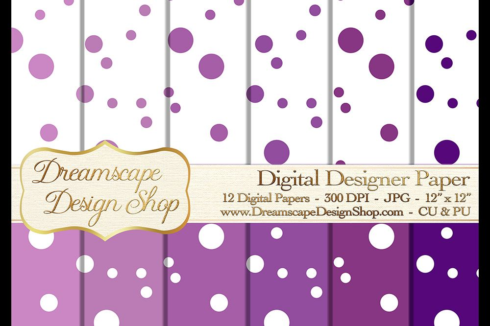 Digital Papers - Purple and White (Set 2) - 12 jpg Images at 300 DPI - Digital Product Instant Download example image 1