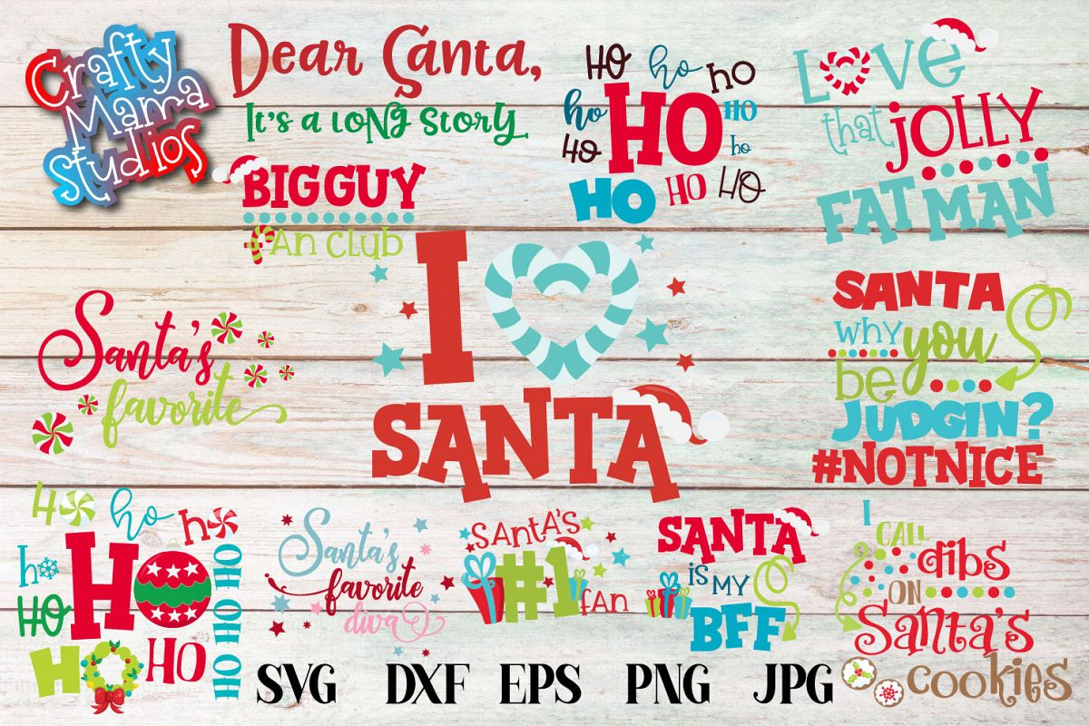 Christmas SVG, Santa Christmas Bundle, Ho Ho Ho Sublimation example image 1