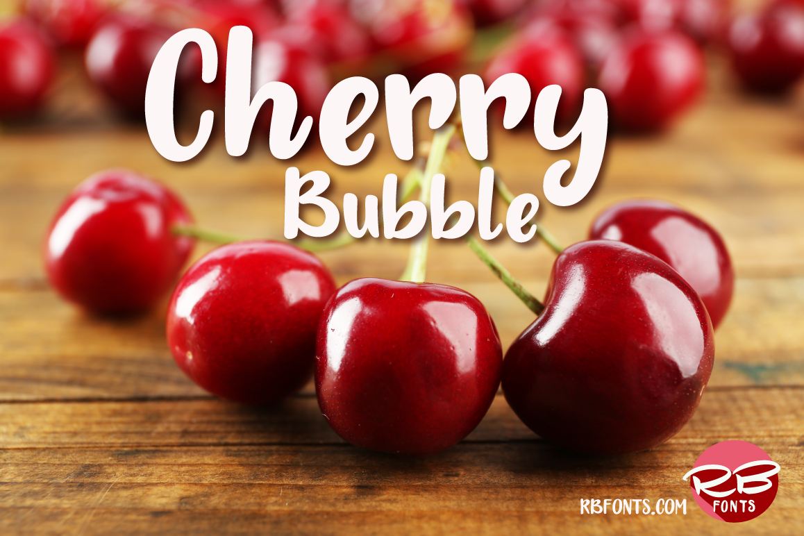 Cherry Bubble font example image 1