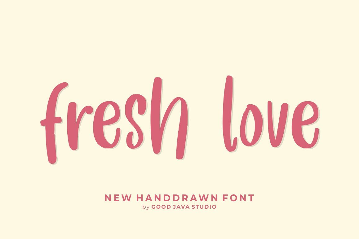 Fresh Love | Handdrawn Font example image 1