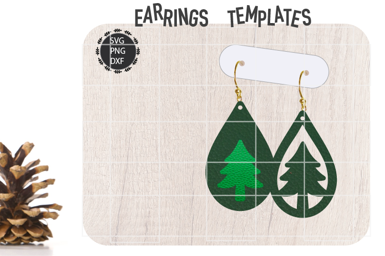 Christmas Tree Earrings Svg Tear Drop Earrings Svg