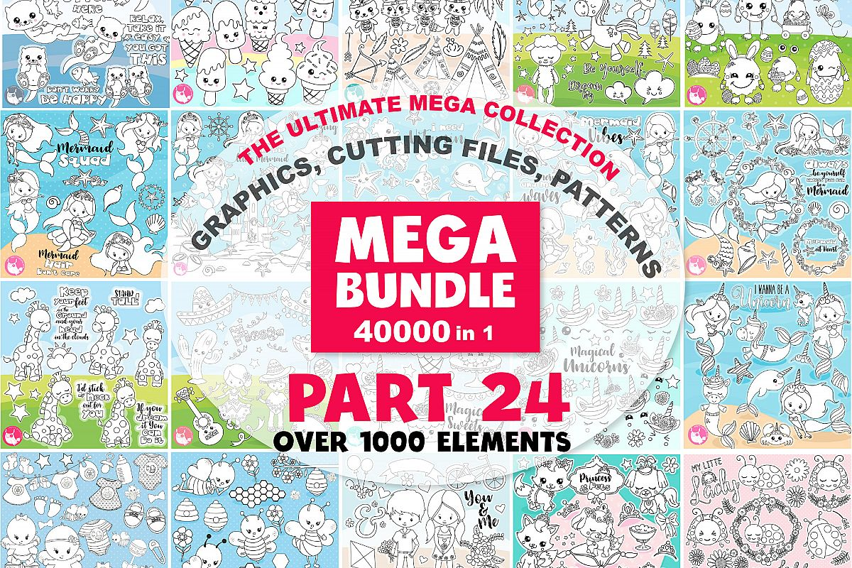 MEGA BUNDLE PART24 - 40000 in 1 Full Collection example image 1
