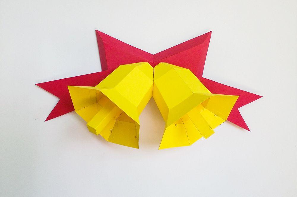 DIY Christmas Bells - 3d papercraft example image 1