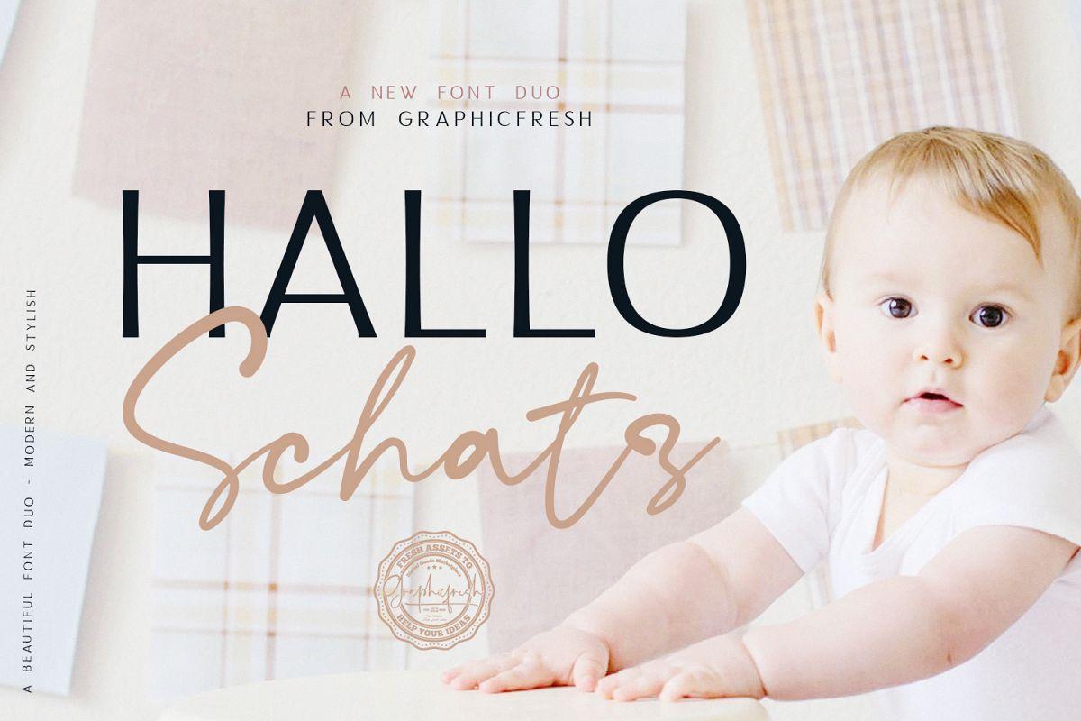 Hallo Schatz Font Duo example image 1